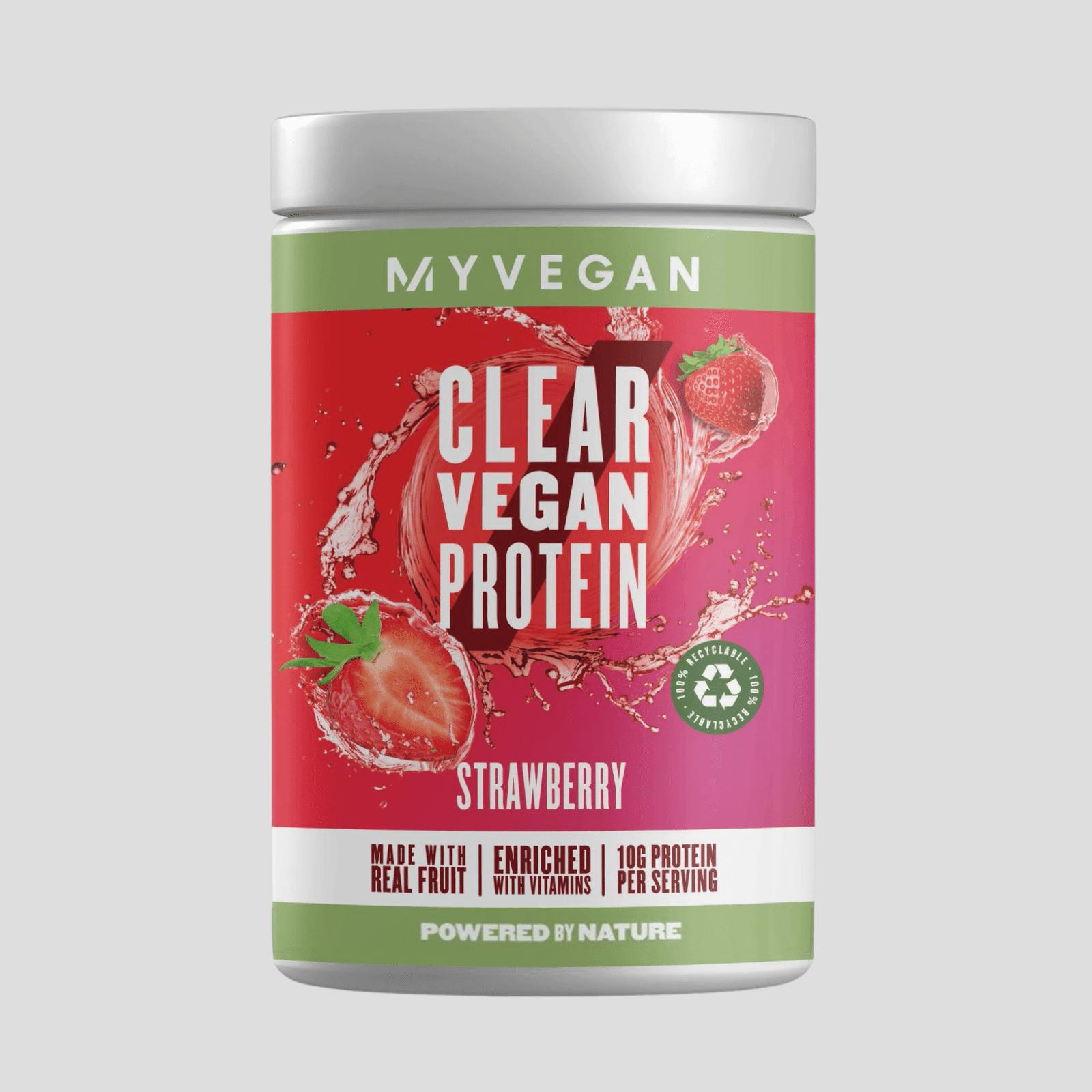 Myvegan Clear Vegan Protein - 20servings - Fraise