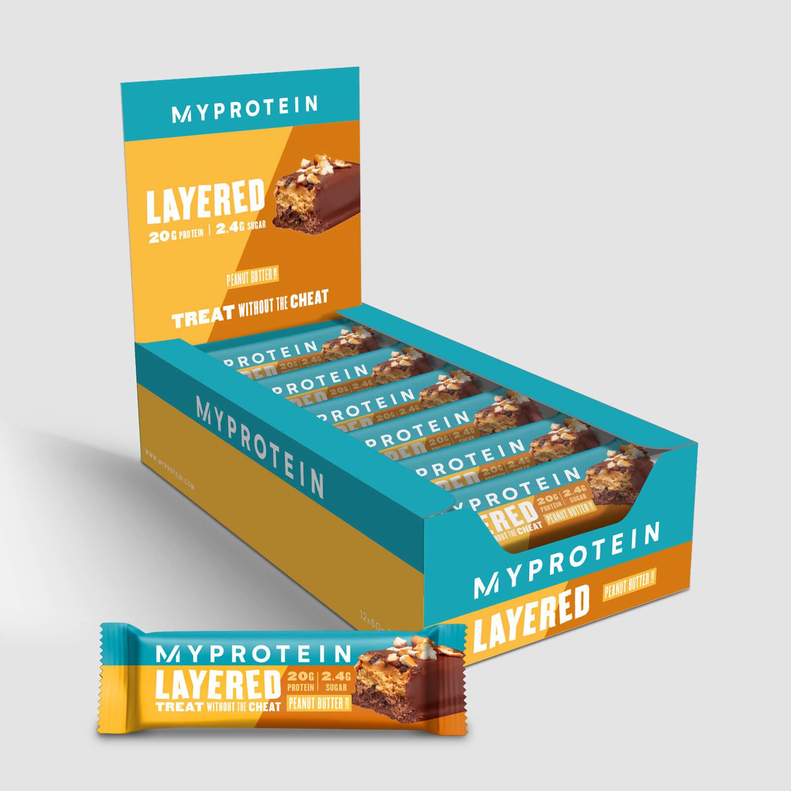 Myprotein Barre de protéines à 6 couches - 12 x 60g - Beurre d'arachides