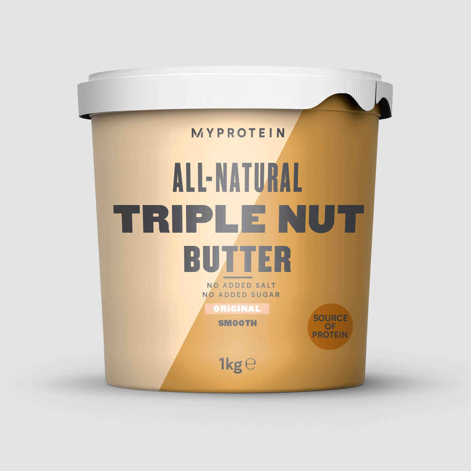 Myprotein Triple Beurre de Noix - 1kg - Sans arôme ajouté