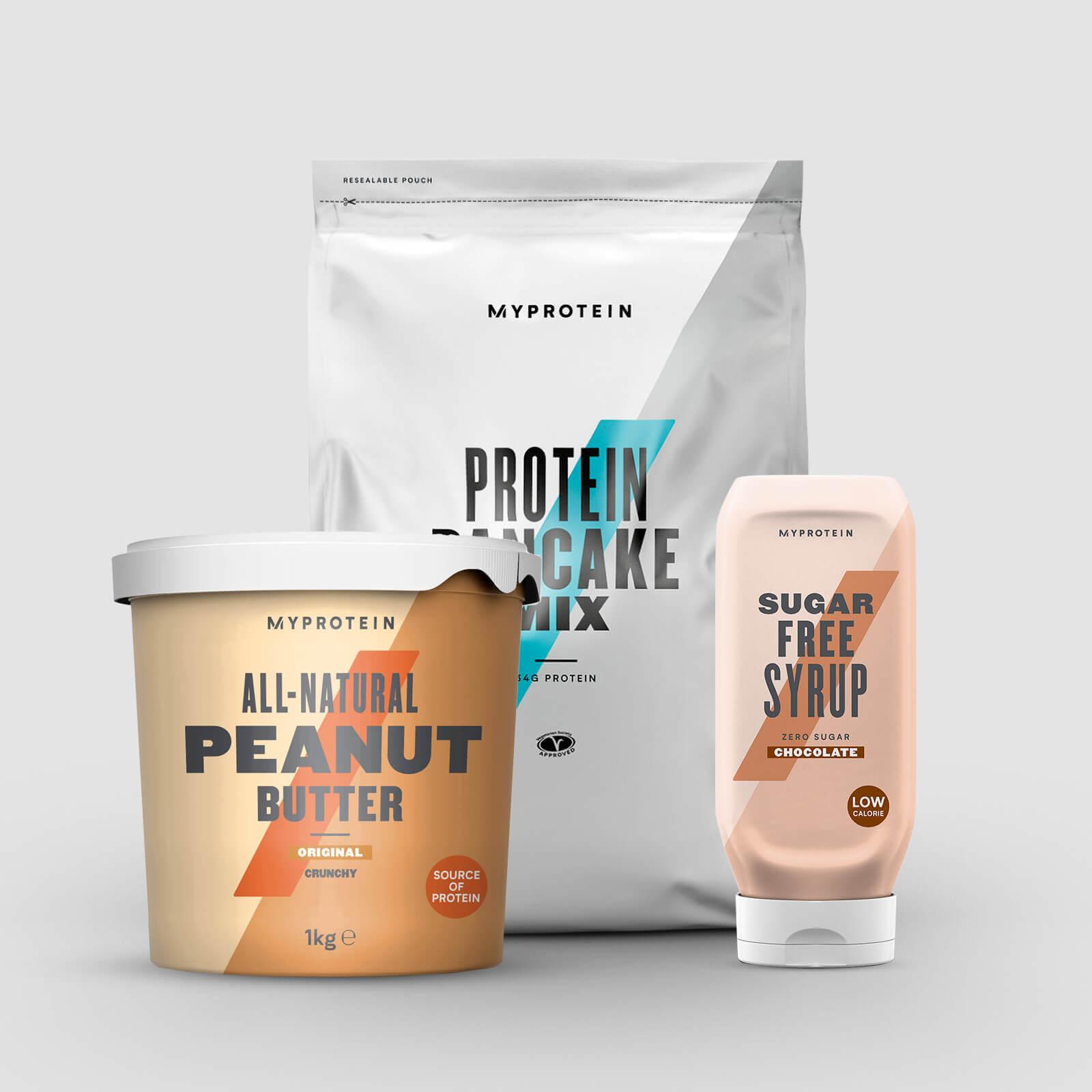 Pack pour Pancake Protéiné - Pancake Mix - Golden Syrup - Syrup - Chocolate