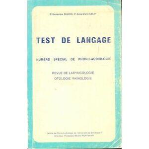 Test de langage - Geneviève Dubois - Livre - Publicité