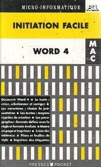 Word 4 pour Mac Initiation facile - Auchatraire - Livre