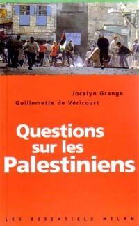 Questions sur les palestiniens - Jocelyn De Véricourt - Livre