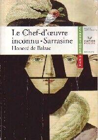 Le chef d'oeuvre inconnu / Sarrasine - Honoré De Balzac - Livre