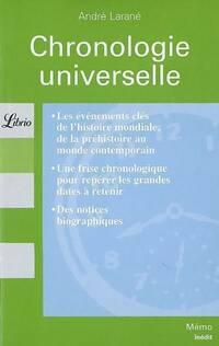 Chronologie universelle - André Larané - Livre