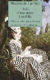 Avis d'une mère à sa fille - Madame De Lambert - Livre