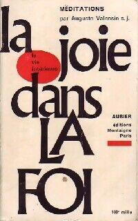 La joie dans la foi - Auguste Valensin - Livre