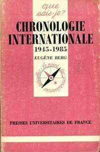 Chronologie internationale 1945-1977 - Eugène Berg - Livre