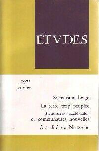 Socialisme belge / La terre trop peuplée / Structures ecclésiales et communautés nouvelles / ... - Collectif - Livre