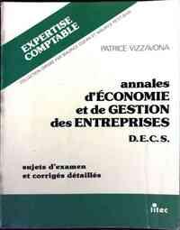 Annales d'économie et de gestion des entreprises - Patrice Vizzavona - Livre