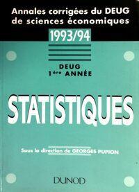 Statistiques DEUG 1re année 1993/94 - Georges Pupion - Livre