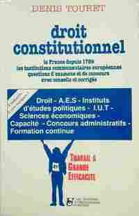 Droit constitutionnel - Denis Touret - Livre