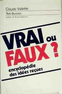 Vrai ou faux - Tom Vallette - Livre