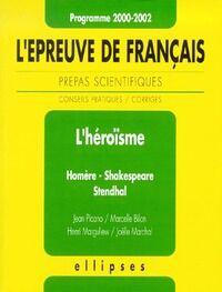 L'épreuve de français - prépas scientifiques, 2000-2002 - Jean Picano - Livre