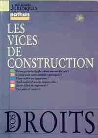 Les vices de construction - Michel Ravelet - Livre