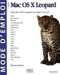 Mode d'emploi pour Mac OS X Leopard - Steve Johnson - Livre