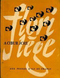 Florilège à coeur joie - Collectif - Livre