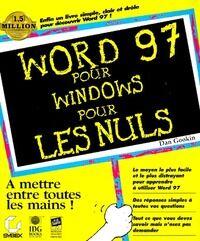 Word 97 pour windows pour les Nuls - Dan Gookin - Livre