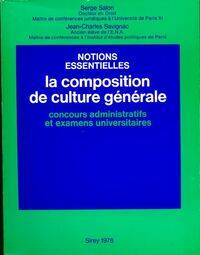 La composition de culture générale - Jean-Charles Savignac - Livre