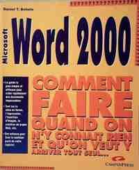 Word 2000 - Daniel T. Bobola - Livre