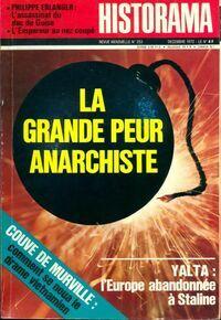 Historama n°253 : La grande peur anarchiste - Collectif - Livre