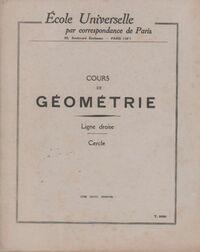 Cours de géométrie : Ligne droite / Cercle - Collectif - Livre