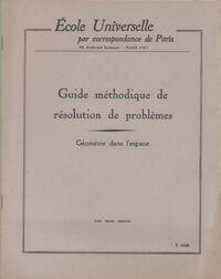 Guide méthodique de résolution de problèmes : Géométrie dans l'espace - Collectif - Livre