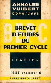 Annales corrigées du B.E.P.C. 1957 : Italien - Inconnu - Livre