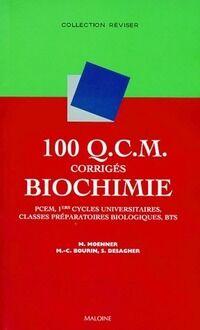 100 Q.C.M. Corrigés biochimie. PCEM 1ers cycles universitaires classes préparatoires biologiques, BTS - Michel Moenner - Livre