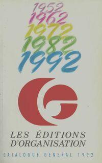 Catalogue général 1992 - XXX - Livre
