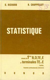 Statistique 1ère B, D, TE, E et terminales TE, T - R. Richard - Livre