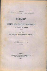 Bulletin du comité des travaux historiques et scientifiques 1890 n°2 - Collectif - Livre