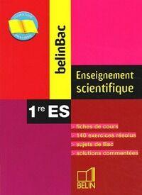 Enseignement scientifique 1ère ES - Ariane David - Livre