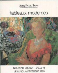 Tableaux modernes - Ader Picard Tajan - Livre