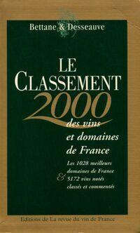 Le classement des vins et domaines de France 2000 - Michel Bettane - Livre