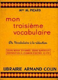 Mon troisième vocabulaire - M. Picard - Livre