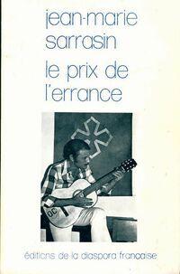 Le prix de l'Errance - Jean-Marie Sarrasin - Livre