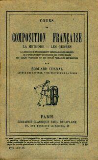 Cours de composition française - Édouard Chanal - Livre