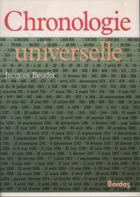 Chronologie universelle - Jacques Boudet - Livre