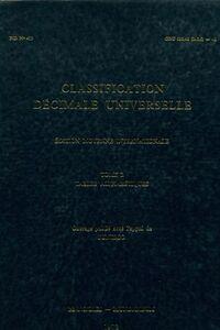 Classification décimale universelle Tome II : Tables alphabétiques - Collectif - Livre
