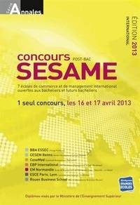 Concours Sésame post bac 2013 - Collectif - Livre