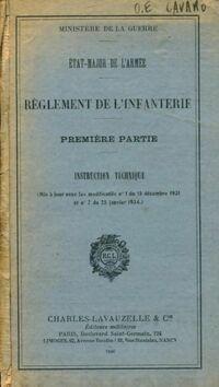 Règlement de l'infanterie Tome I - Collectif - Livre