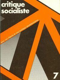 Critique socialiste n°7 - Collectif - Livre