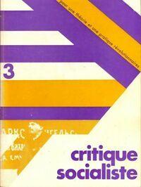 Critique socialiste n°3 - Collectif - Livre