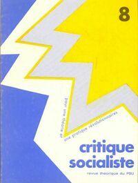 Critique socialiste n°8 - Collectif - Livre