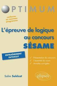 L'épreuve de logique au concours Sésame - Salim Sekkat - Livre