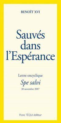 Sauvés dans l'espérance - Benoît XVI - Livre