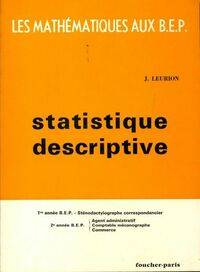 Statistique descriptive BEP - Jean Leurion - Livre