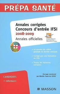 Annales corrigées concours d'entrée IFSI 2008-2009 - Collectif - Livre