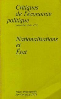 Critiques de l'économie politique n°2 : Nationalisations et état - Collectif - Livre
